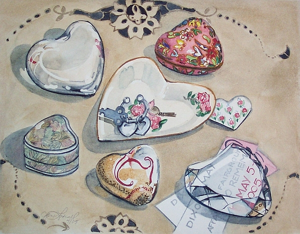 Still Life Painting - A Fair Of Hearts by Jane Loveall