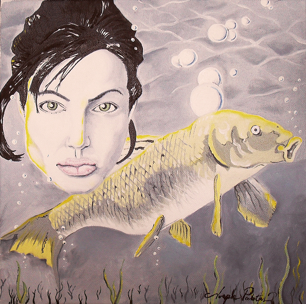Angelina Painting - A Fish Named Angelina by Joseph Palotas