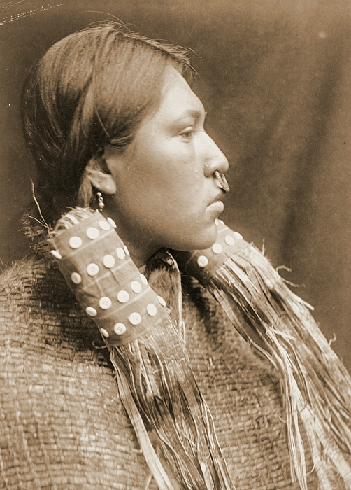 Native Americans Photograph - A Hesquiat Maiden 1910 by Padre Art