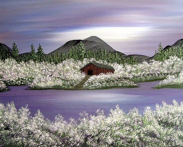A Lilac Lullaby Painting by Nadine  Estes