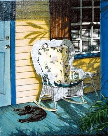 Landscape Painting - A Little Nap by Carlos Alvarez