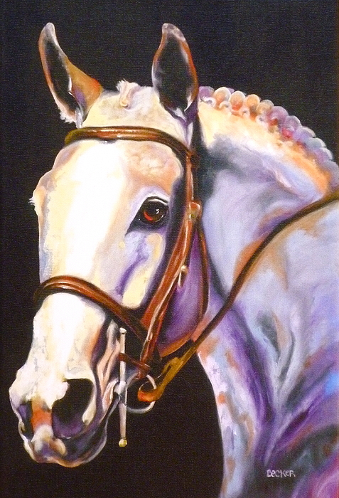 Thoroughbred Painting - A Little Night Music by Susan A Becker
