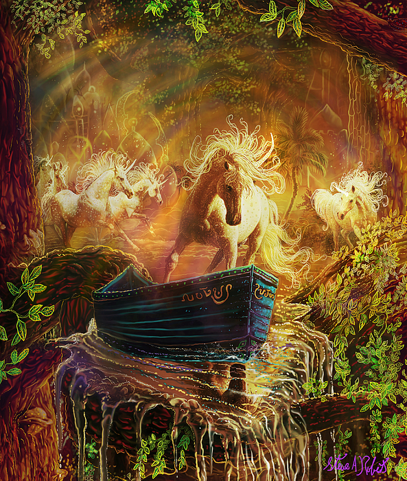 A Magical Boat Ride Painting by Steve Roberts