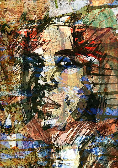 Face Digital Art - A Man Who Looks Like Someone by Haruo Obana