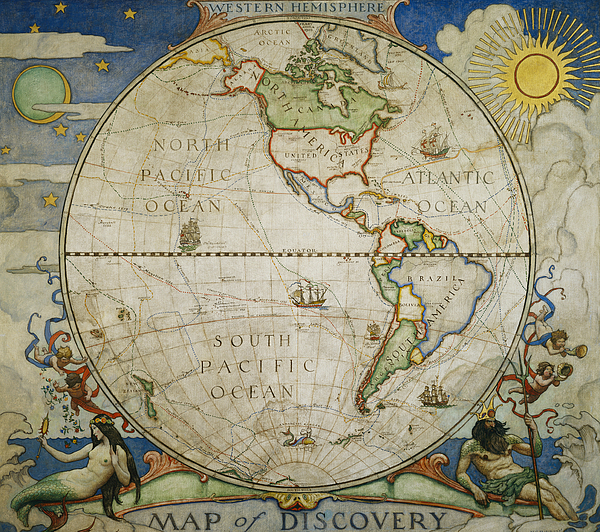 Illustrations Photograph - A Map Of The Western by Victor R. Boswell, Jr