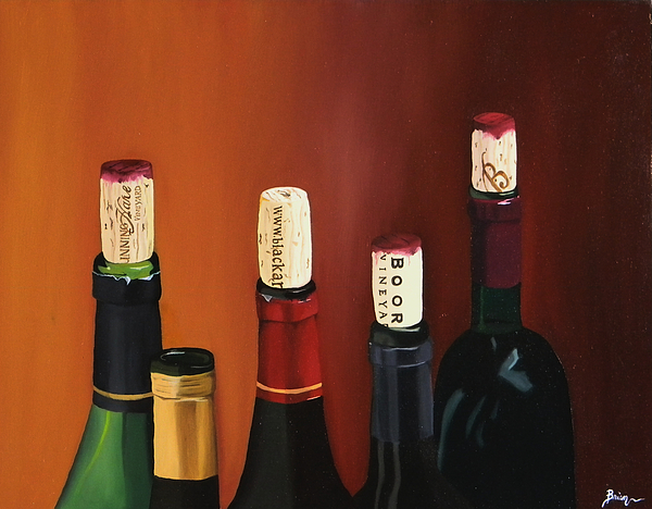 Wine Art Paintings Painting - A Maryland Wine Party by Brien Cole