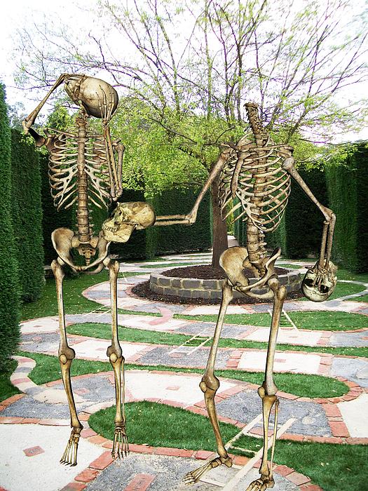Skeleton Mixed Media - A Mazing Exchange by Tammera Malicki-Wong