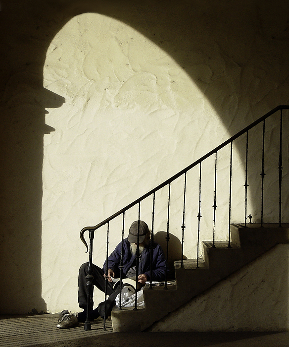 Stair Photograph - A Moments Rest by Joe Darin