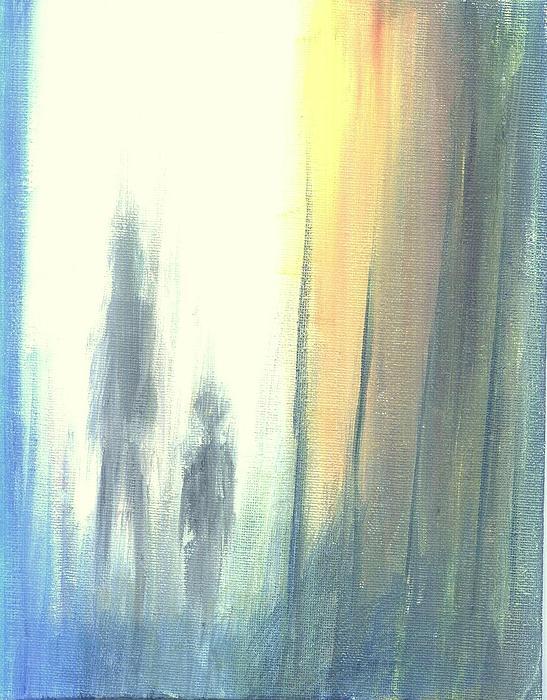 Abstract Painting - A Morning Walk by Rajesh Bawkar