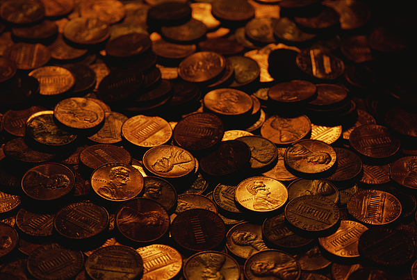 Money Photograph - A Mound Of Pennies by Joel Sartore