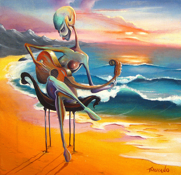 Ocean Painting - A Musicians Touch by Matt Truiano