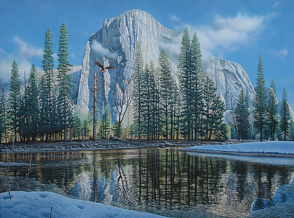 Yosemite Painting - A New Beginning by Eric Wilson