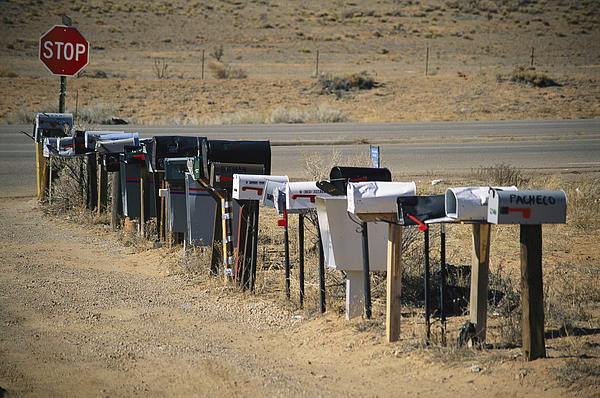 Outdoors Photograph - A Parade Of Mailboxes On The Outskirts by Stephen St. John