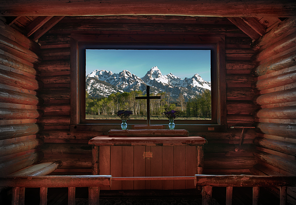 Hdr Photograph - A Pew With A View by Sandra Bronstein
