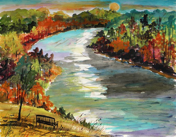Delaware River Painting - A Private View by John Williams
