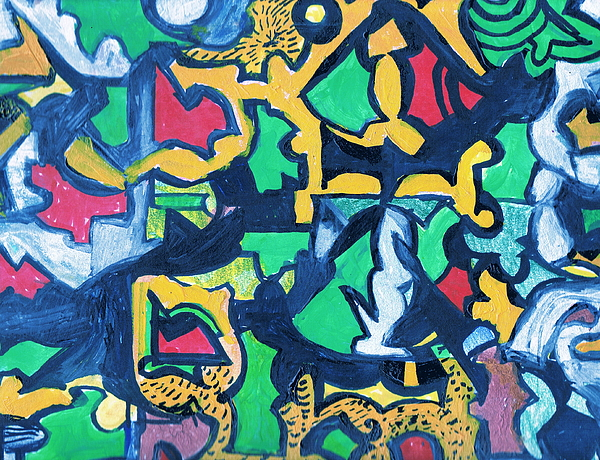 Puzzle Painting - A Puzzle In A Conundrum In An Enigma by Anne-Elizabeth Whiteway