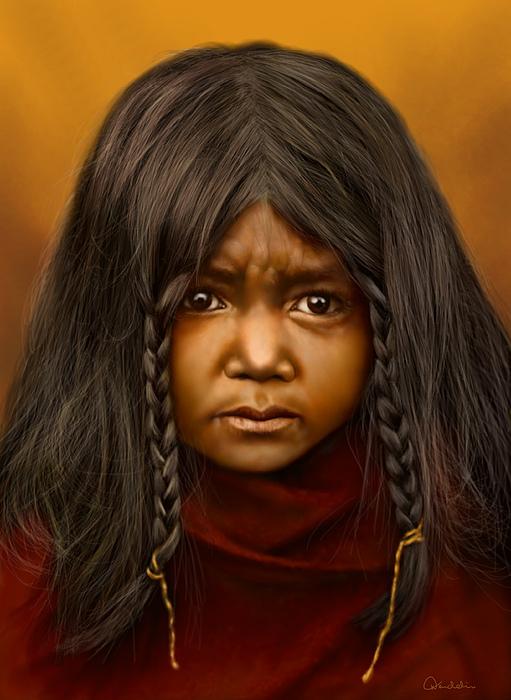 Portrait Digital Art - A Quilcene Boy by Helmut Weininger