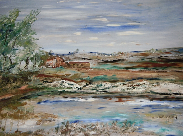 Landscape Painting - A Rain Ponding Basin by Edward Wolverton
