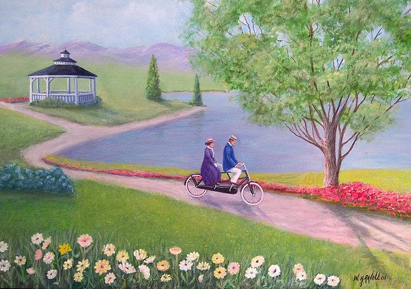 Landscape Painting - A Ride In The Park by William H RaVell III