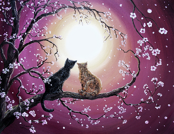 Zen Painting - A Shared Moment by Laura Iverson