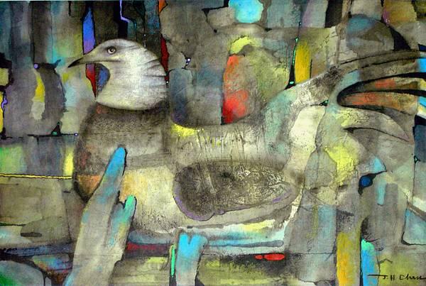 Wildlife Painting - A Sitting Bird by Joe Chen