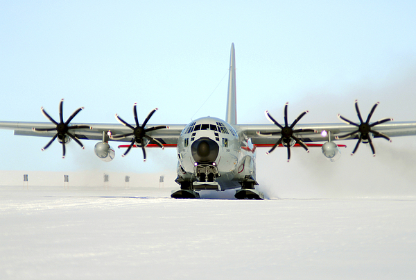Operation Deep Freeze Photograph - A Ski-equipped Lc-130 Hercules by Stocktrek Images