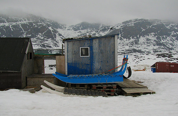 Arctic Photograph - A Sledge Dog House Three by Sidsel Genee