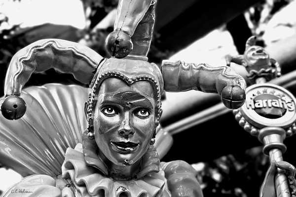 Sculpture Photograph - A Smile Behind The Scars B-w by Christopher Holmes