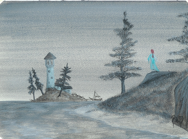 Watercolor Painting - A Song For Lost Souls... by Robert Meszaros