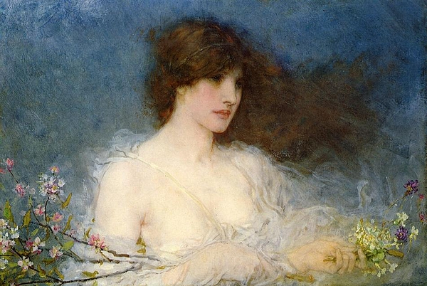 A Spring Idyll Painting - A Spring Idyll by George Henry Boughton