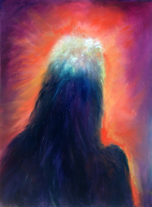 Celestial Painting - A Star Is Born by Sally Seago