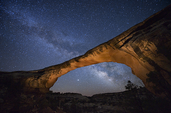 Outdoors Photograph - A Starry Night Gleams Above Owachomo by Jim Richardson