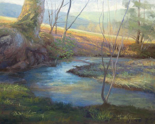 Landscape Painting - A Step Away by Jonathan Howe