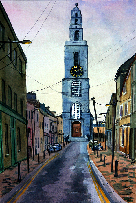 A Street In Cork. Painting by John Cox