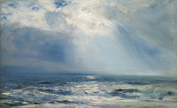 Seascape Painting - A Sunbeam Over The Sea by Henry Moore