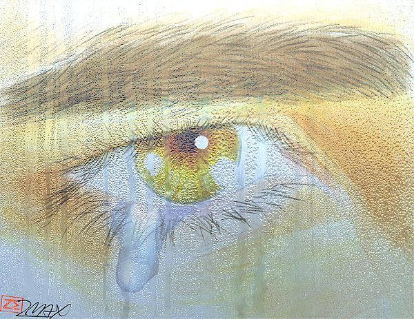 Male Nude Painting - A Teardrop Kissed... by Zane  Maxwell