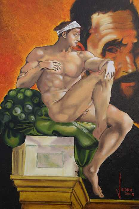 A Tribute To A Genius  Michelangelo   Forever Painting by Jose Tello