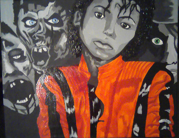 Portrait Painting - A Tribute To Michael Jackson by Cheryl Booth