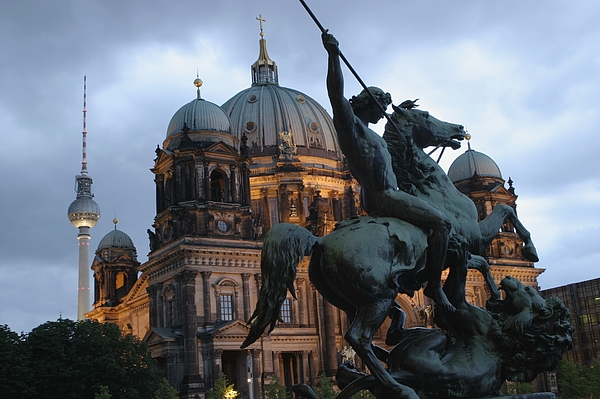 Europe Photograph - A Twilight View Of The Berlin Cathedral by Jim Webb