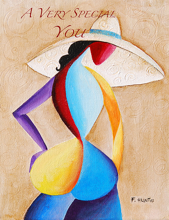 Lady Greeting Card - A Very Special You by Sharon Elliott