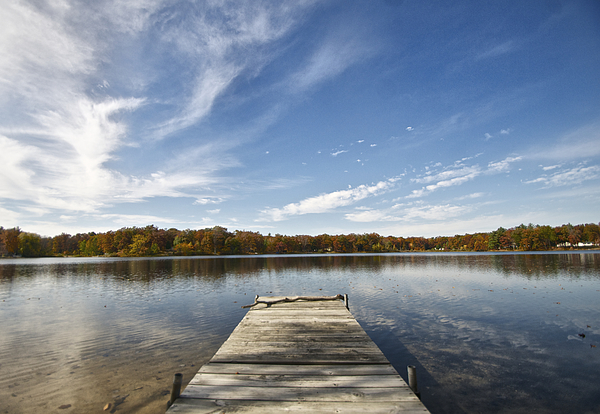 Lakes Photograph - A View From The Dock by Sheryl Thomas