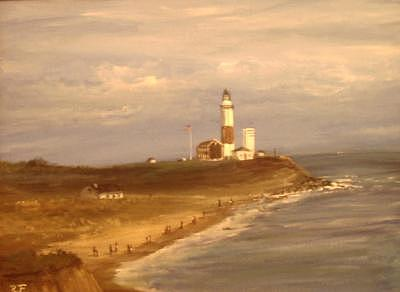 A View Of Montauk Painting by Richard Finnell