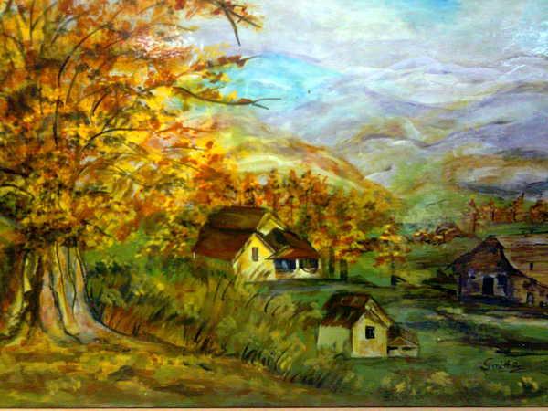 Smitha Kamath - A village scene