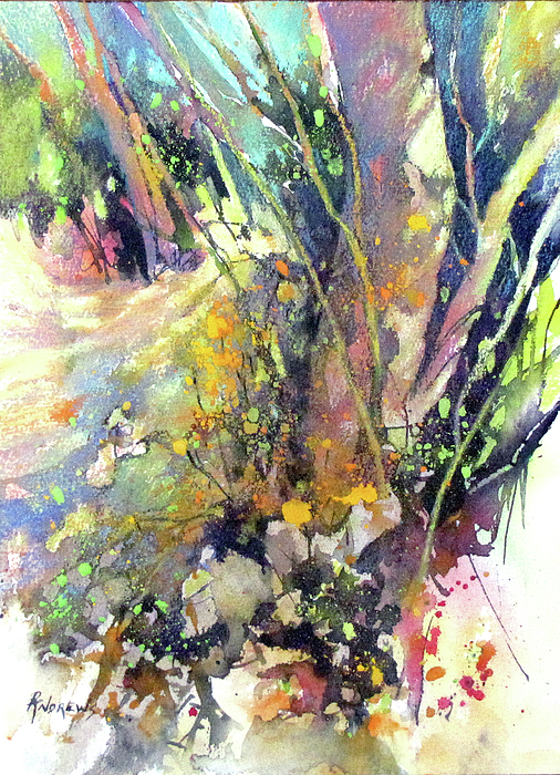 Bold Colors Painting - A Walk In The Forest by Rae Andrews
