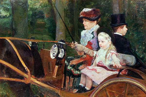 Woman Painting - A Woman And Child In The Driving Seat by Mary Stevenson Cassatt