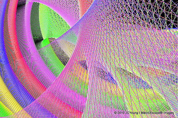 Abstract Digital Art - A Woven Of Rainbow by JCYoung MacroXscape