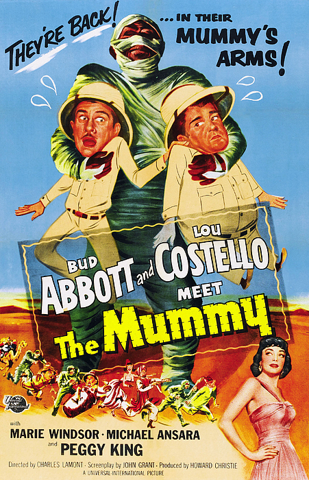 1955 Movies Photograph - Abbott And Costello Meet The Mummy Aka by Everett