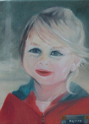 Abby Painting by Lyne Bujold