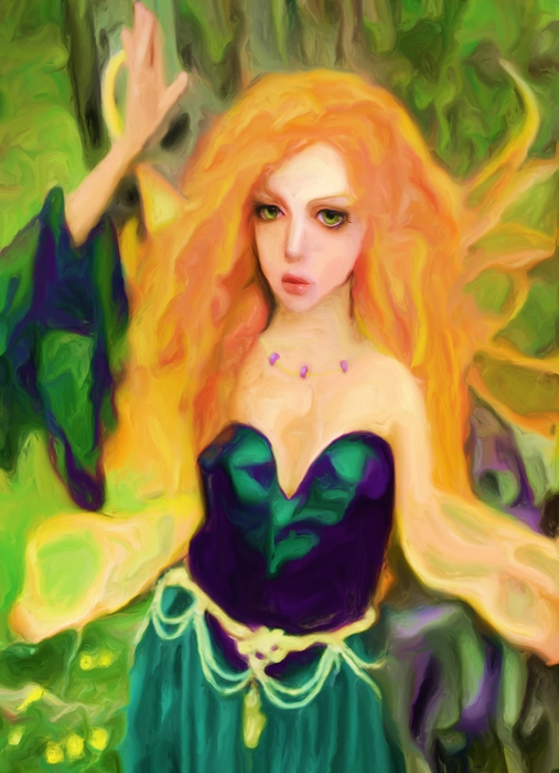 Fae Painting - Abell - Beautiful  by Shelley Bain