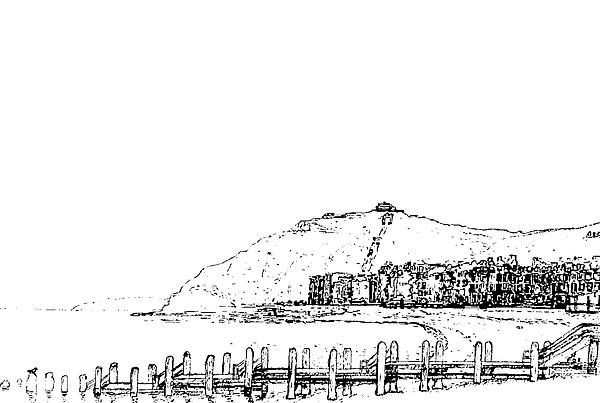 Landscape Drawing - Aberystwyth by Frank Hamilton